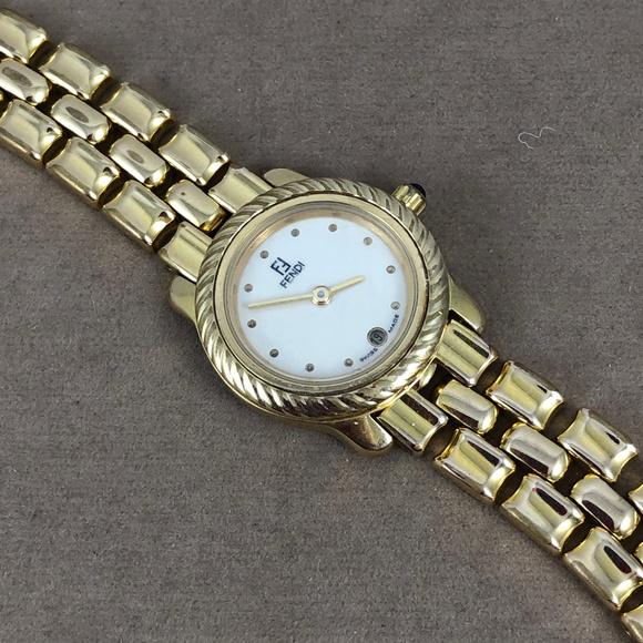 Vintage Fendi 660L18 Karat GP Date Watch